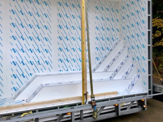 Treppenkonstruktion aus Polypropylen von BrainPool Manufaktur