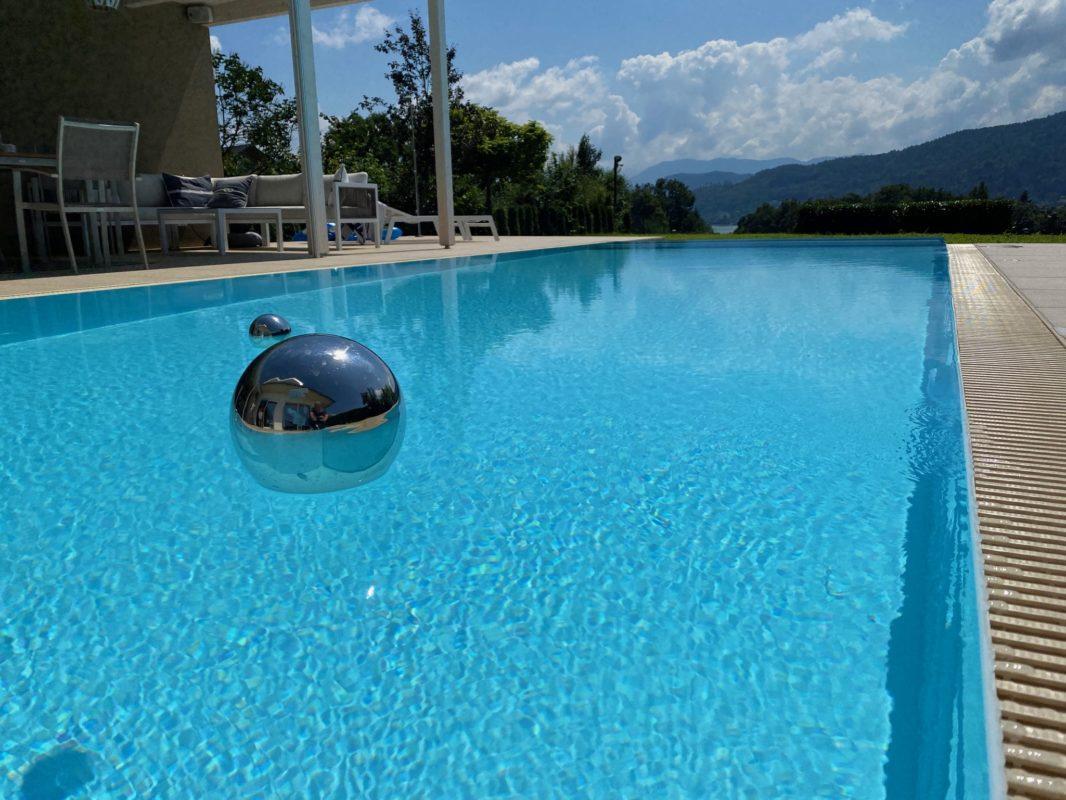 PP Pool weiß BrainPool Schwimmbecken Infinity Pool